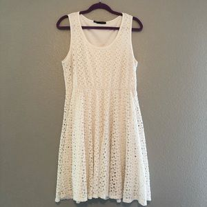 Maurices Ivory Crochet Lace Dress